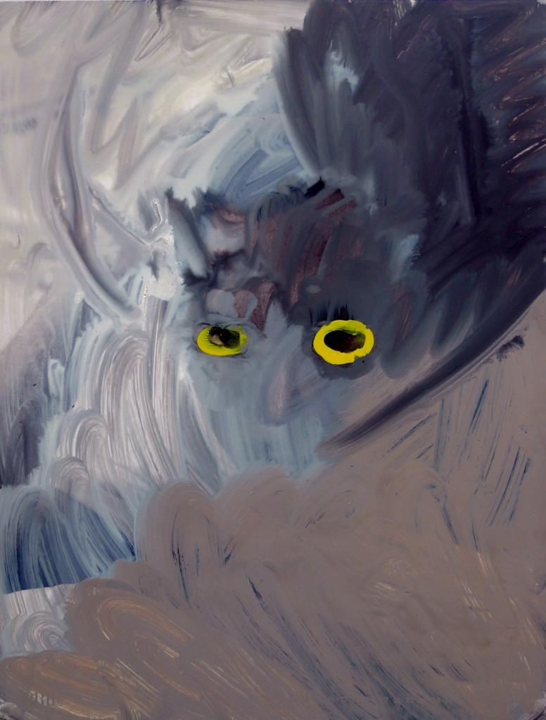 העיניים של אוראנוס (מספר 26), צבעי אקריליק ואקוורל על תצלום), 2009, 29X39 סמ