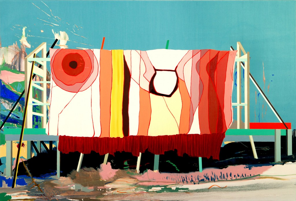 Matan Ben Tolila, Screen, Oil on canvas, 135x200cm, 2011