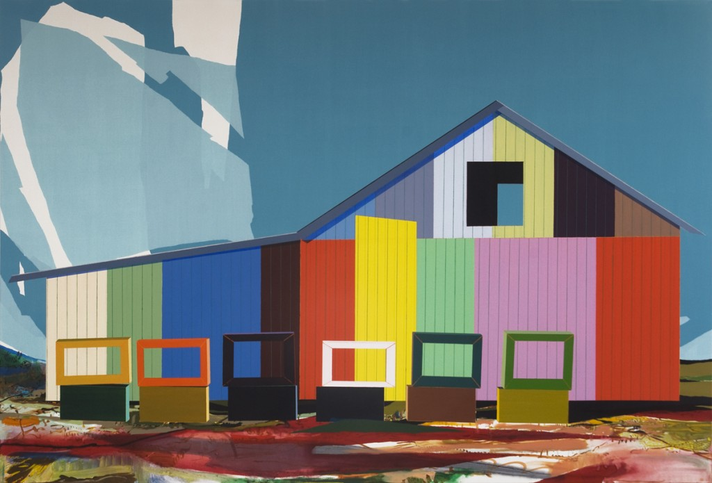Matan Ben Tolila, 6 Boxes, Oil on canvas, 135x200cm, 2012