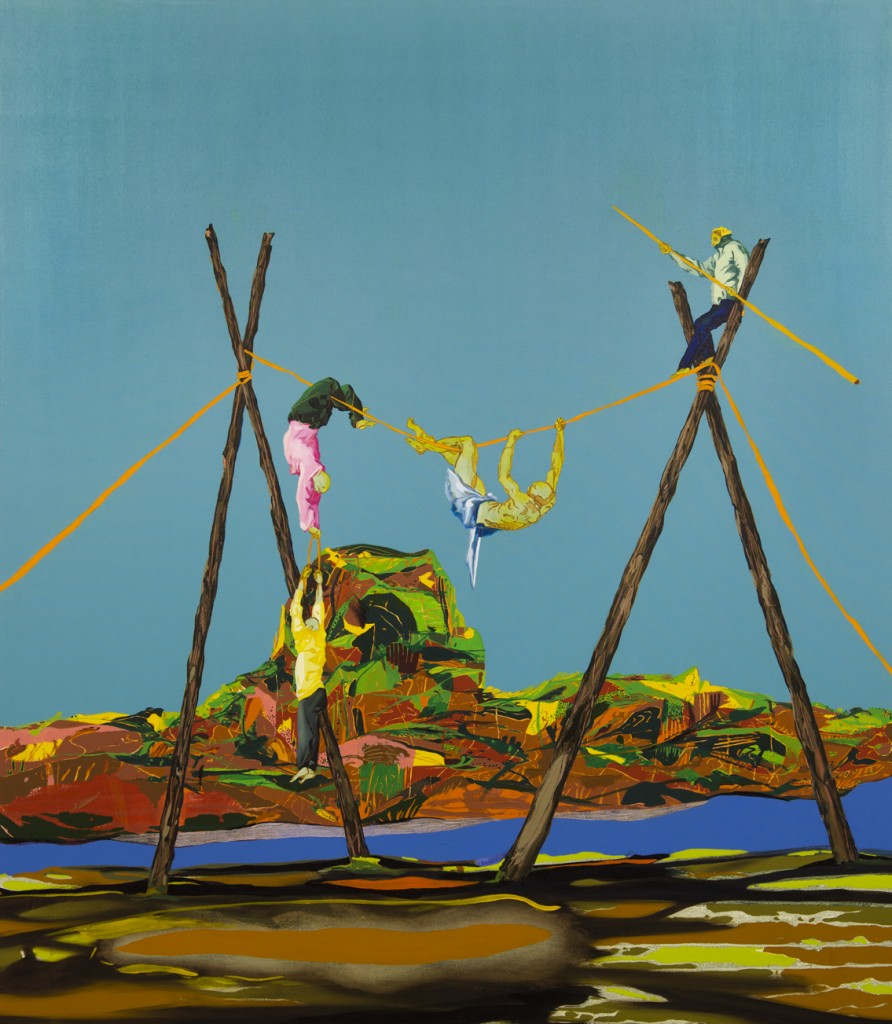 Matan Ben Tolila, Acrobats, Oil on canvas,164x144cm, 2015