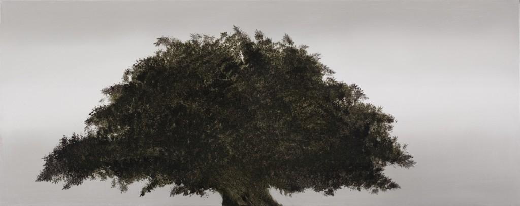 Dark tree , oil on canvas, 40x100cm, 2006