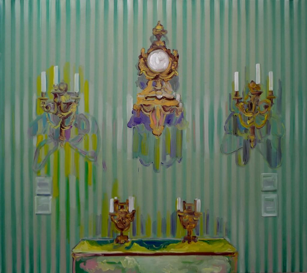 Jossef Krispel, Display (Getty museum), Oil on canvas, 160x180cm, 2009