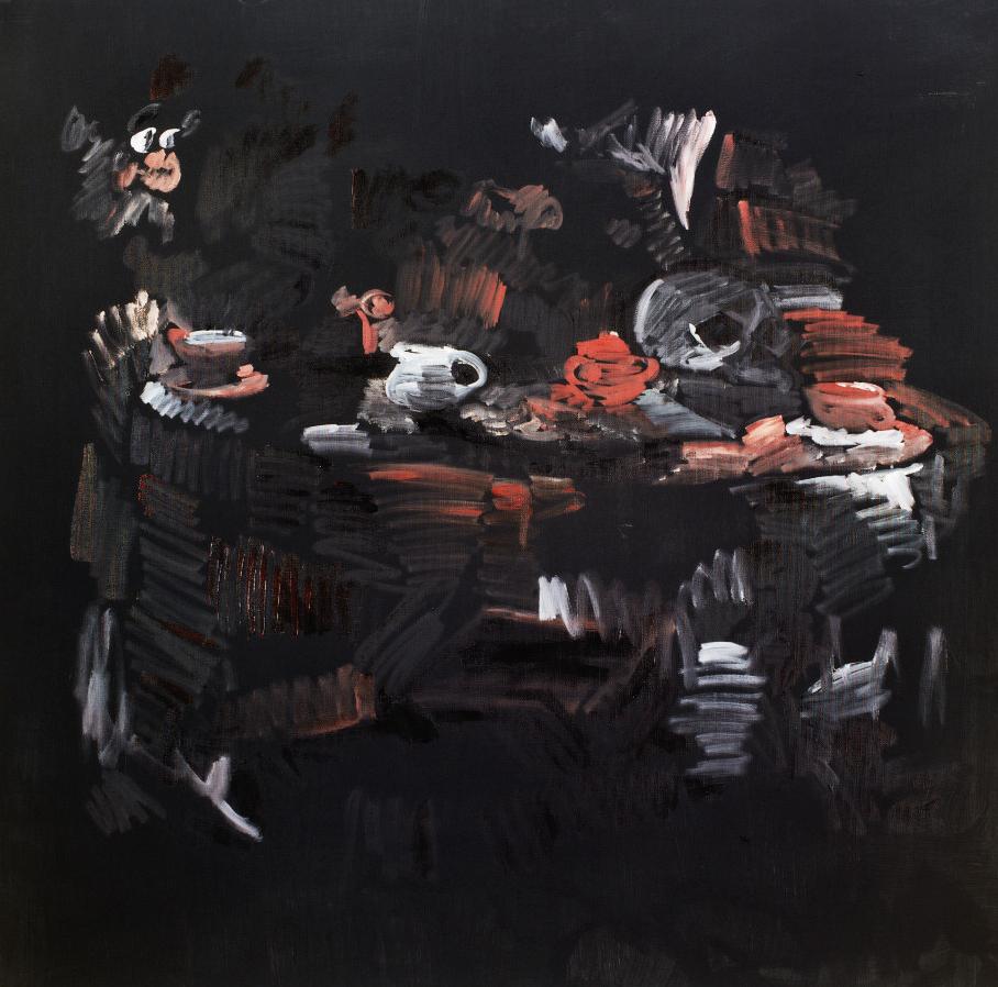 Donkeys and Fairies Installation, Acrylic on Canvas, 100x100cm, 2005