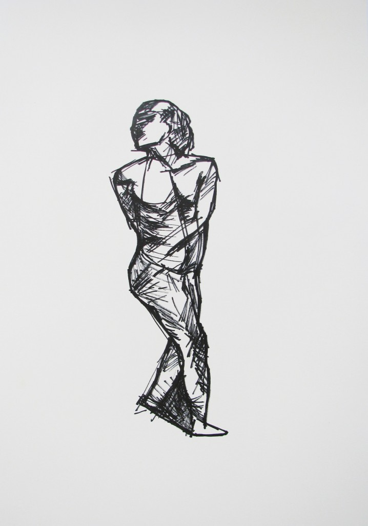 Drawing from 'the rope', Marker on Paper, 54x42cm, 2008