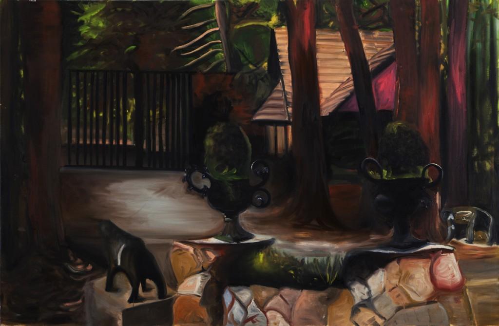 Oren Ben Moreh, Gate, Oil on canvas, 100x150cm, 2013
