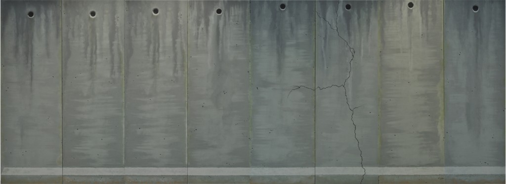 Michael Halak, I will dress you a gown of concrete and cement, Oil on canvas, 800x300cm, 2014