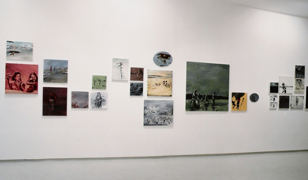 Orly Maiberg, Ill put down the sky for you, installation view, Noga Gallery of Contemporary Art, 2004