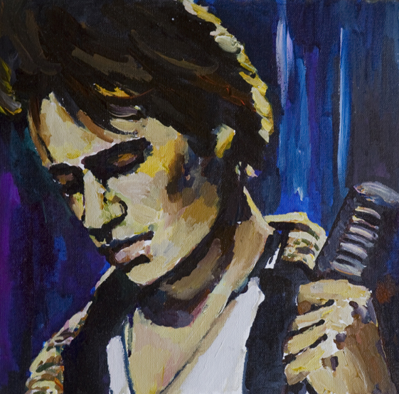 JEFF BUCKLEY, Grace, watercolor on canvas mounted on cardboard, 30x30cm, 2010
