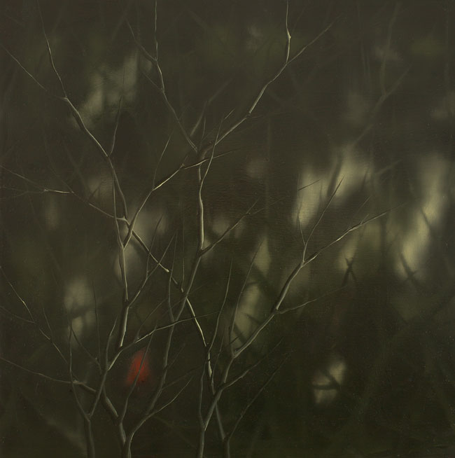 Forest Green (Red), Oil on canvas, 80x80cm, 2009
