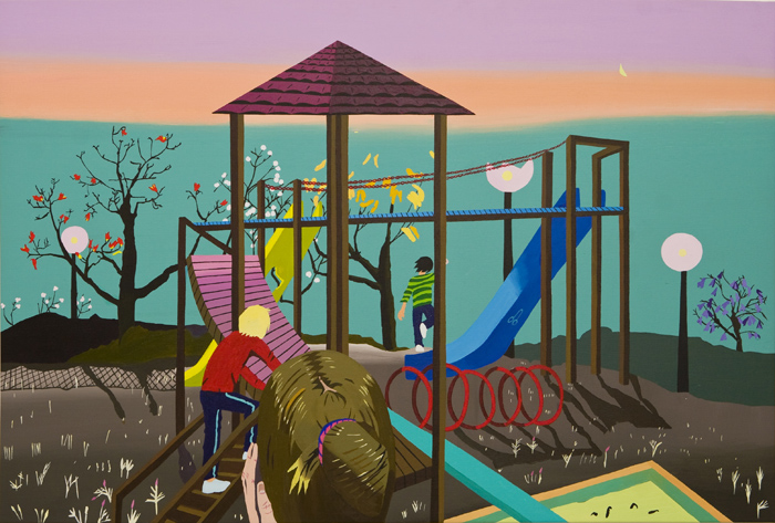 Playground 2, acrylic on canvas, 120 x80 cm, 2010