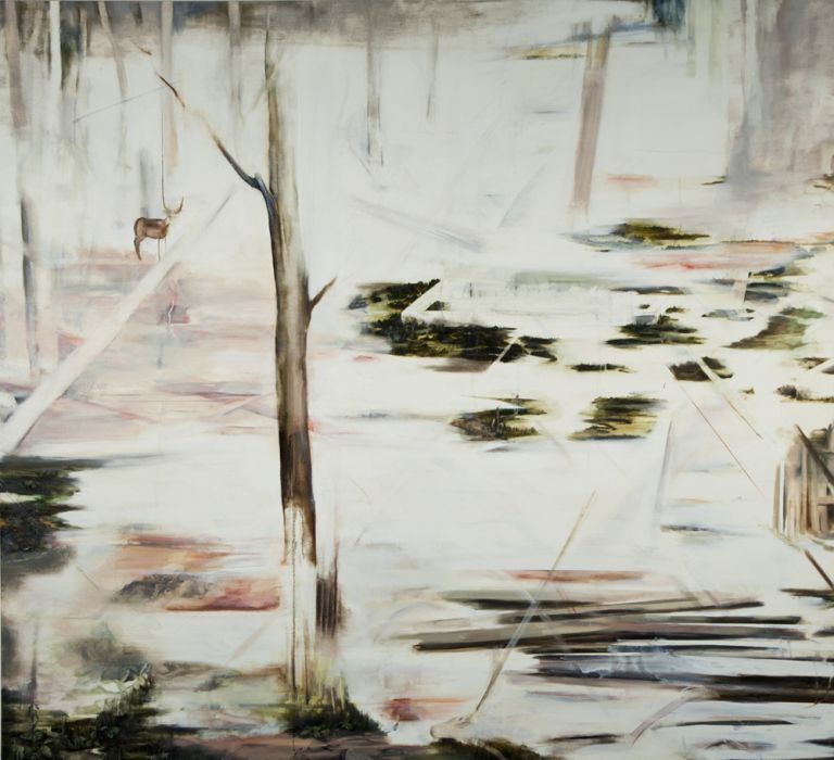 Nogah Engler, White night, Oil on canvas, 149x163cm, 2012