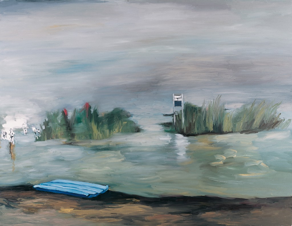 Orly Maiberg, Sea of Galilee, Oil on canvas, 140x180cm, 2012