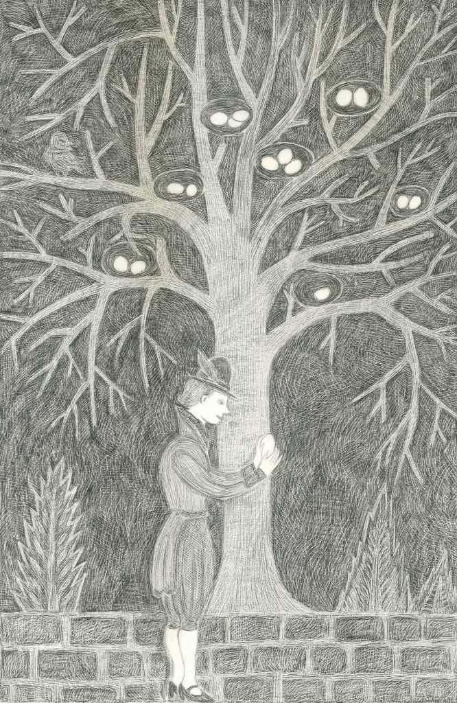 Alexandra Zuckerman, Prince of the Egg, pencil on paper, 42x29.7cm, 2012