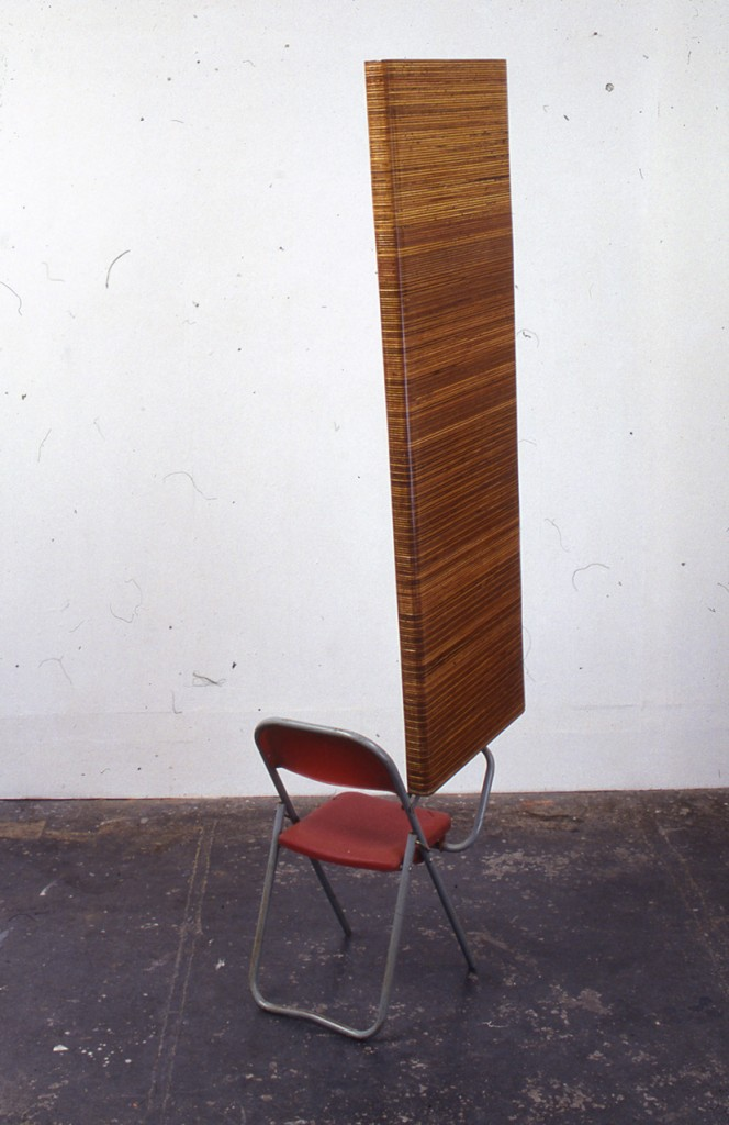 Amikam Toren, Received Wisdom, Lecture chair, plywood, 237x45x66cm, 2006