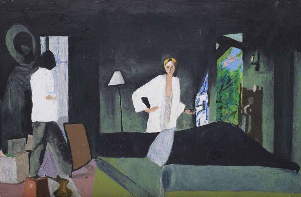 Oren Ben Moreh, The Green Room, Pastel on Paper, 100x150cm, 2010
