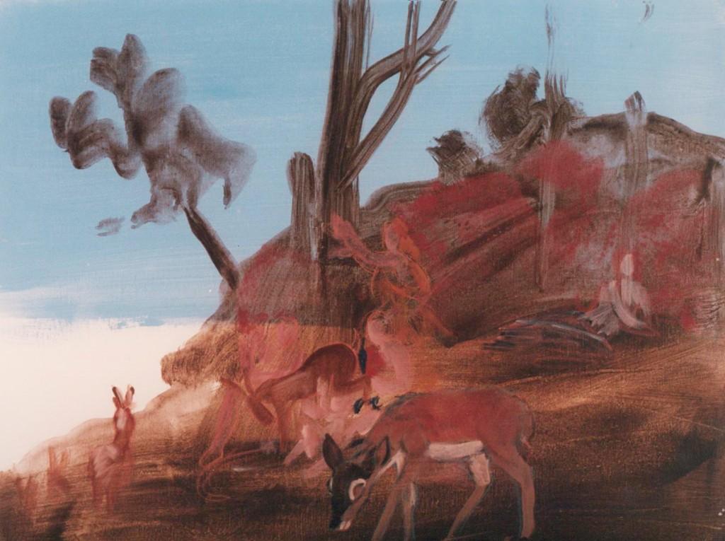 Eti Jacobi, Untitled, Acrylic on Canvas, 60x60cm, 1995
