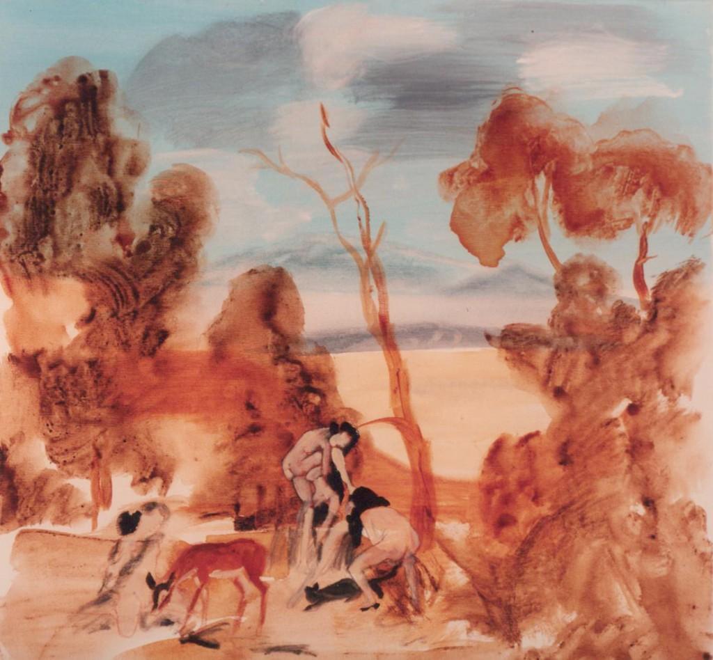 Eti Jacobi, Untitled, Acrylic on Canvas, 90x90cm, 1995
