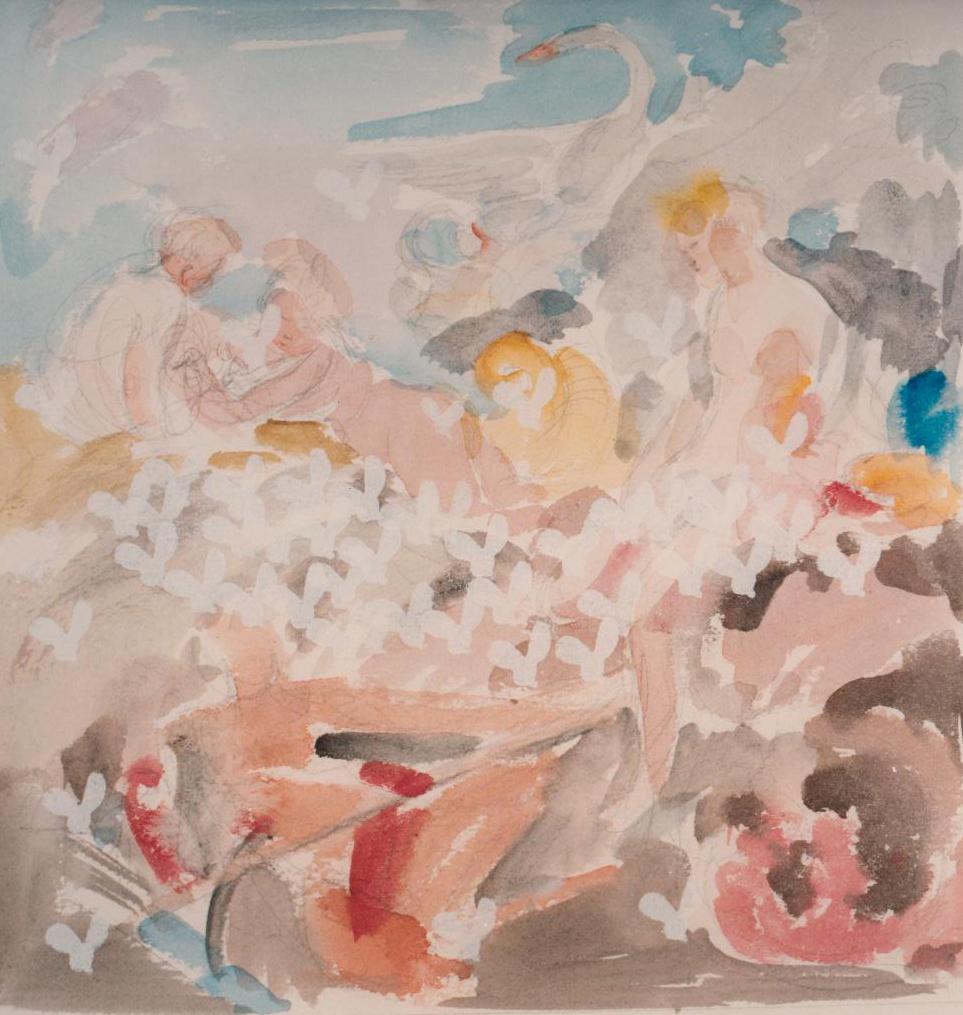Eti Jacobi, Untitled (Bees and Birds), Mixed Media on Canvas, 100x110cm, 1993
