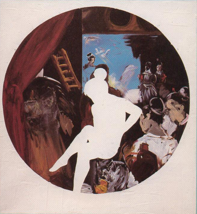 Eti Jacobi, Who will get in first, Mixed Media on Canvas, 110x100cm, 1990