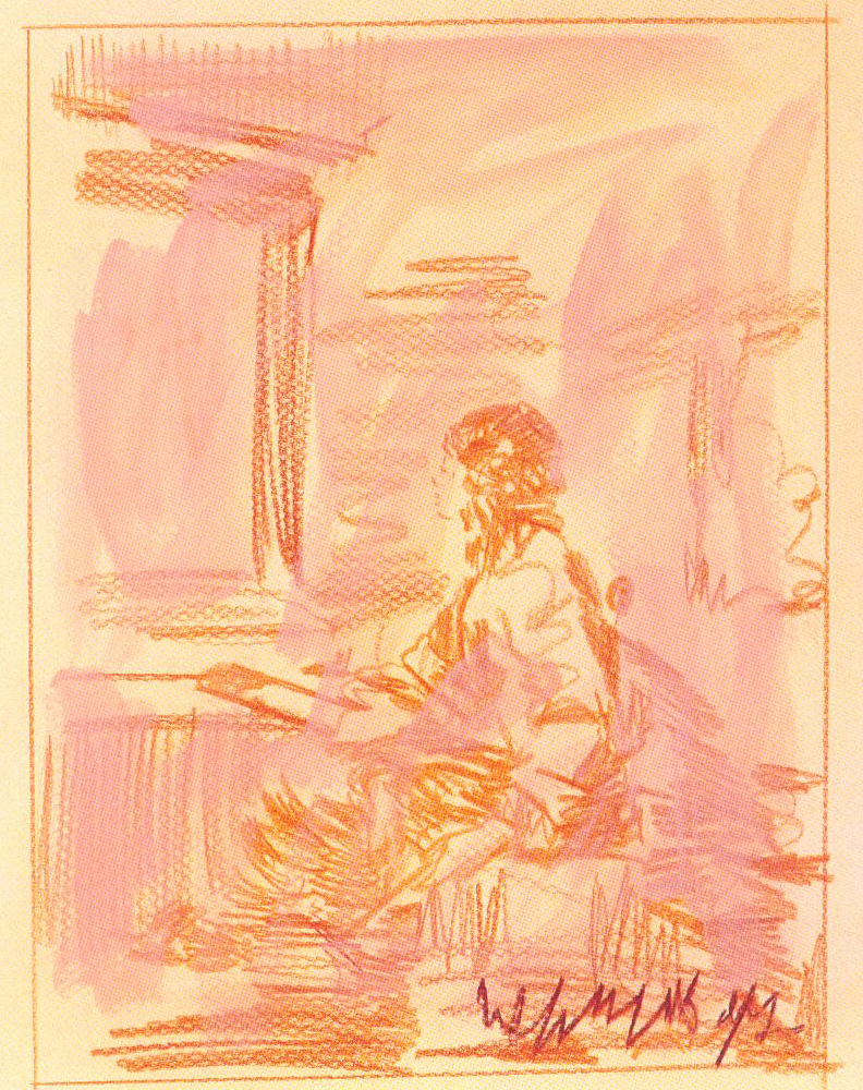 Eti Jacobi, Wow! That's Good, water colors on paper, 65x50cm, 1997