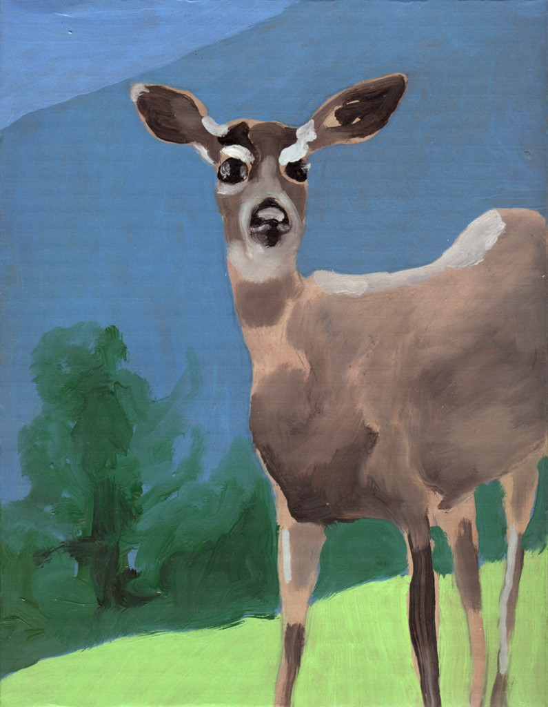 Bambi, oil on cardboard, 28x20cm, 2005