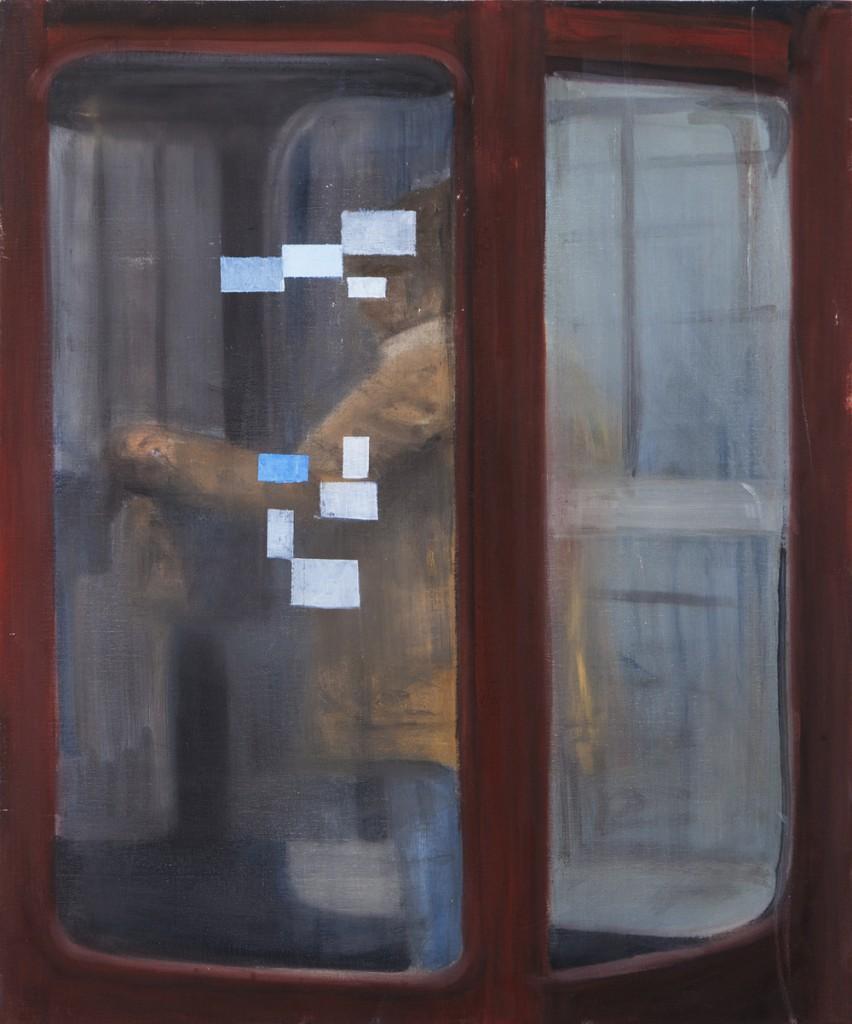 Oren Ben Moreh, Booth, Oil on canvas, 60x50cm, 2012