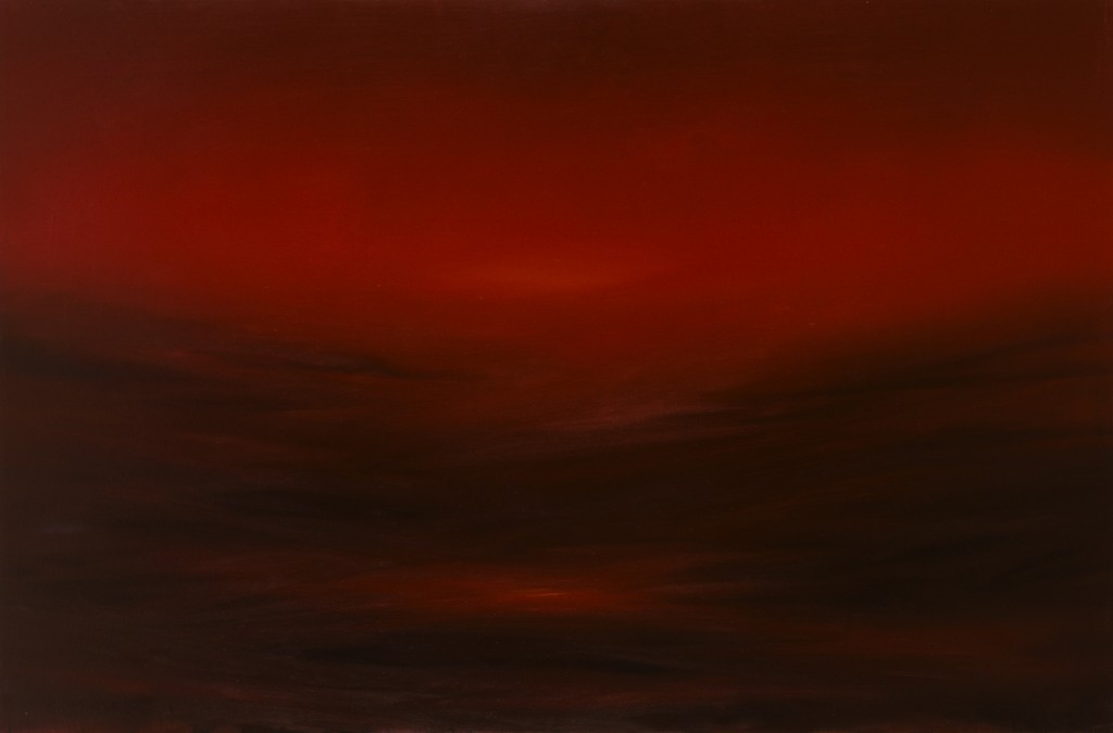 Crimson land, oil on canvas, 145x95cm, 2014