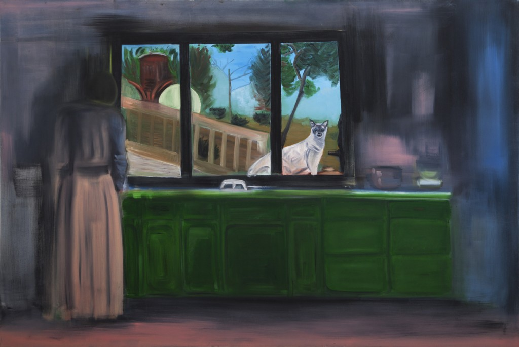 Oren Ben Moreh, Kitchen window, Oil on canvas, 150x190cm, 2012