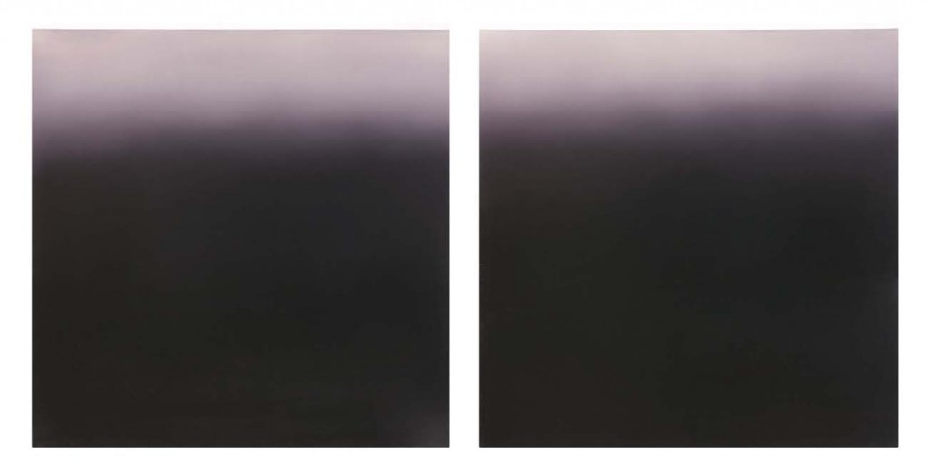 Purple Dawn (Diptych), Oil on Canvas, 2x60x60cm, 2003