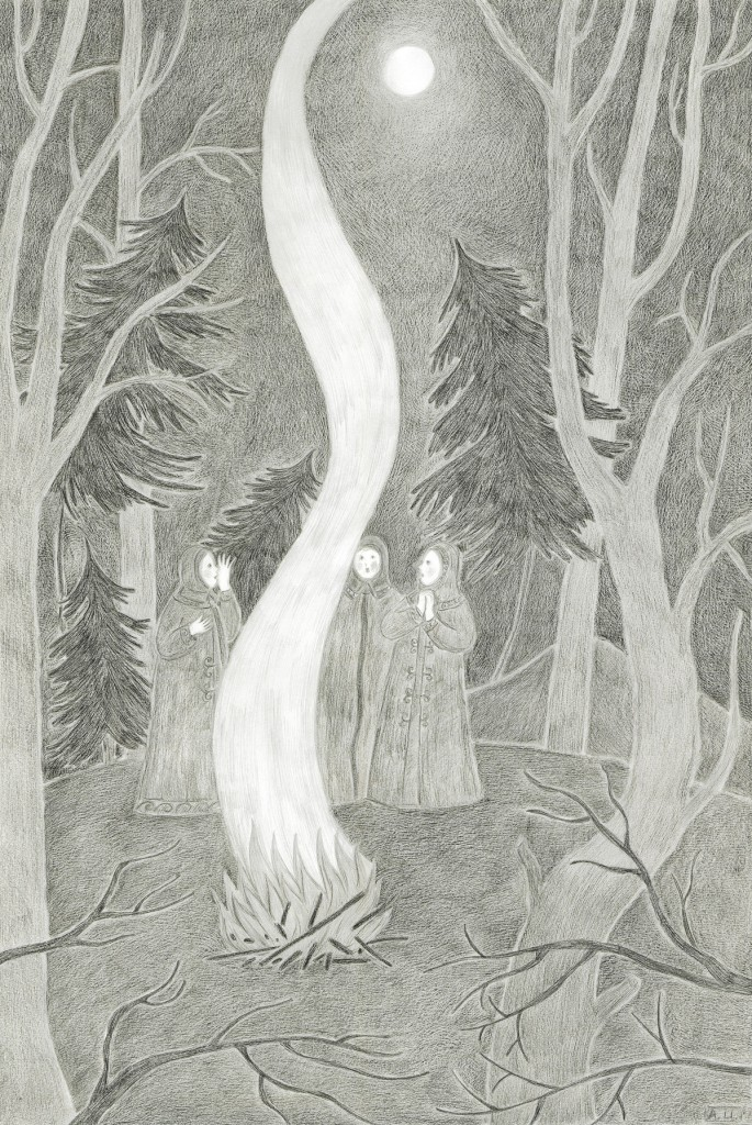 Smoke, Pencil on paper, 59.4x42cm, 2012