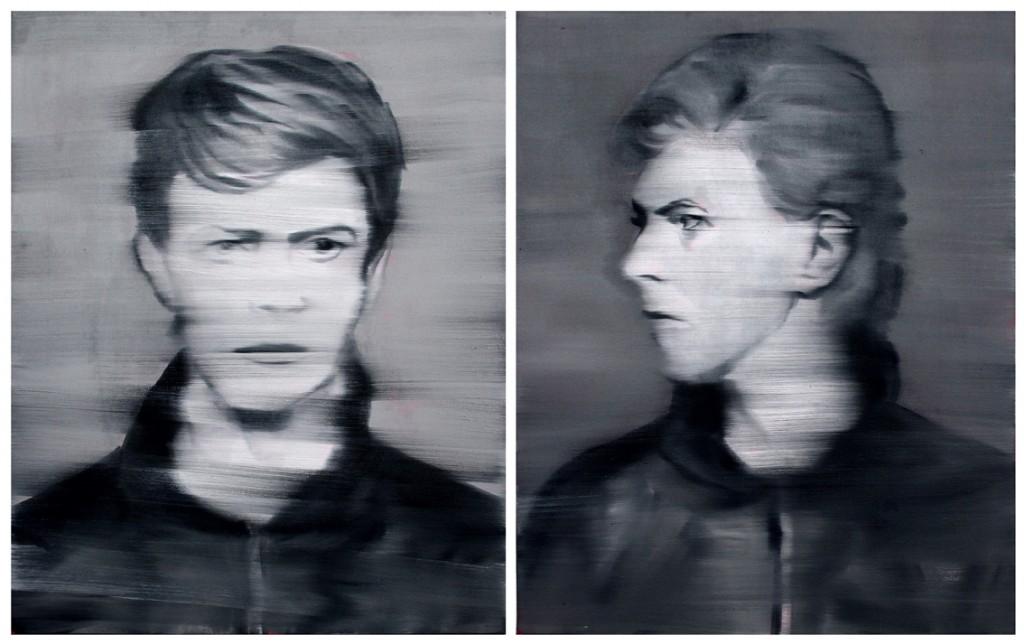 Jossef Krispel, Untitled (David), Oil on canvas, 81x65 each part,diptych, 2013