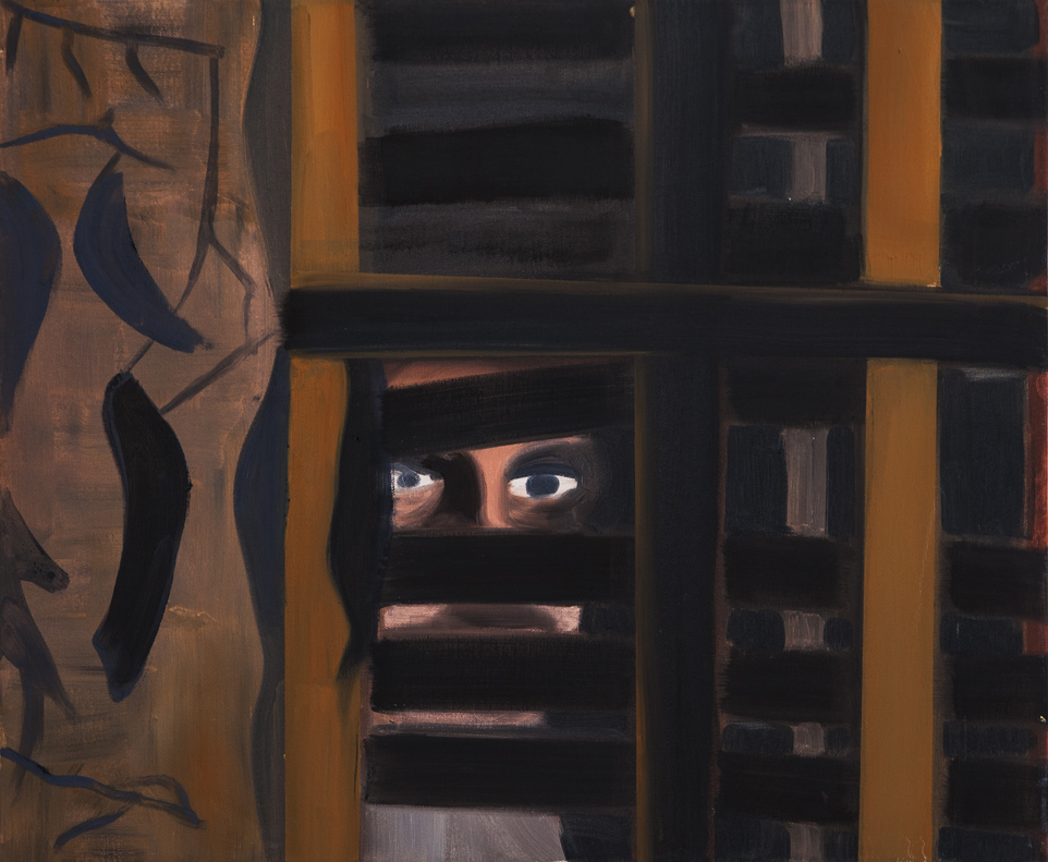 Watching, oil on canvas, 50x60cm, 2013