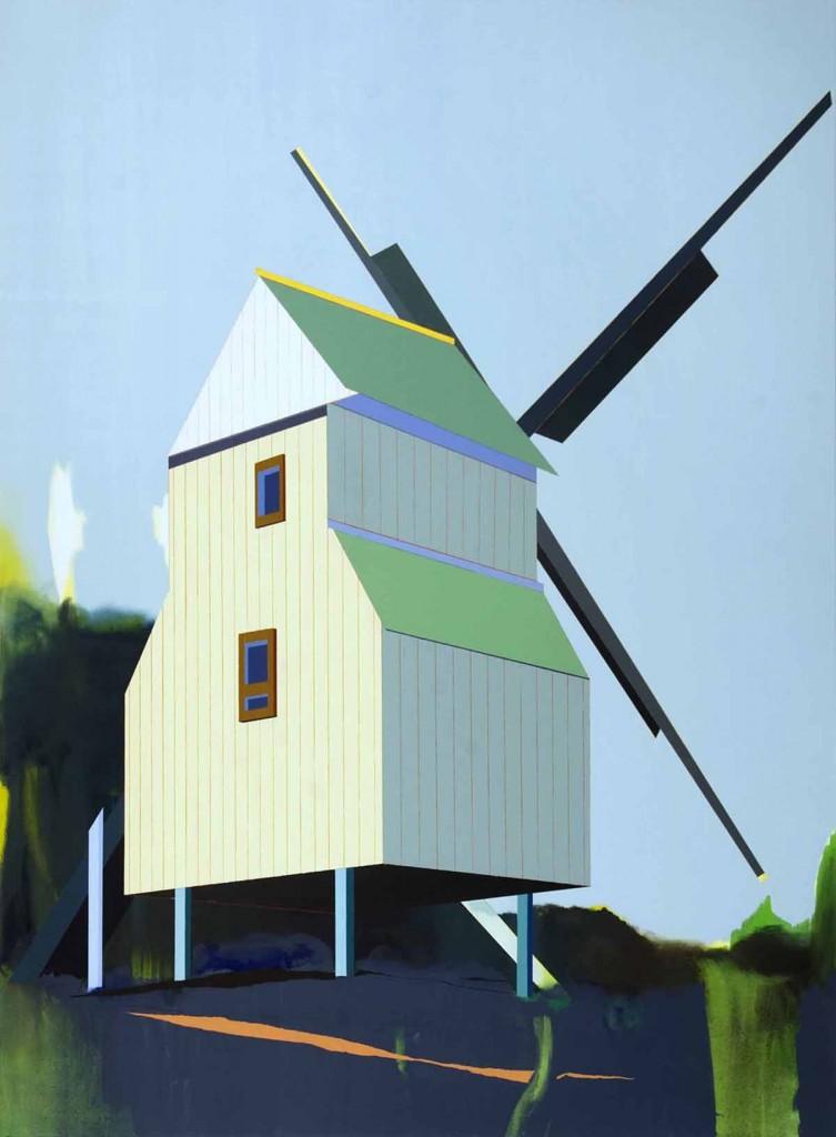 Windmill, oil on canvas, 190x140cm, 2012