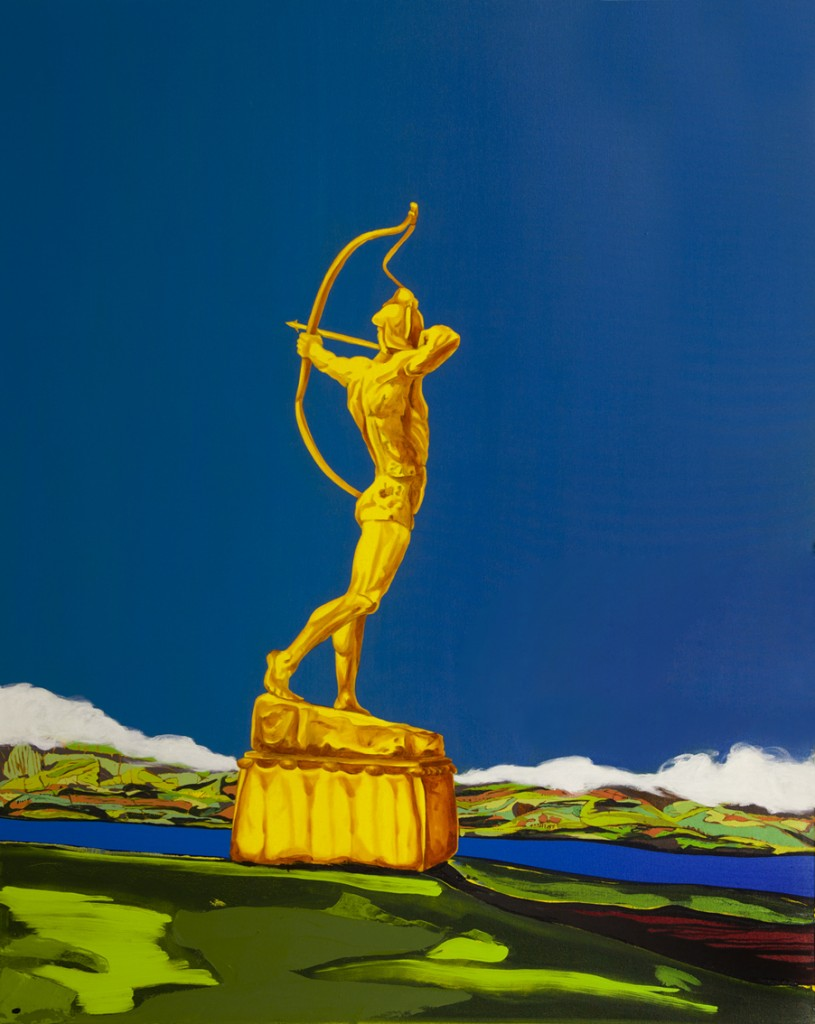 Archer, oil on canvas, 133x166cm, 2015