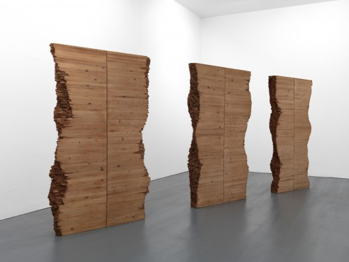 Amikam Toren, Broken, Repetition wood glue nails, approximately 176x111x13cm each, 1971-1972