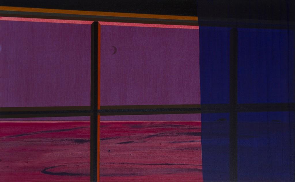 Silver moon, oil on canvas, 97x60cm, 2015