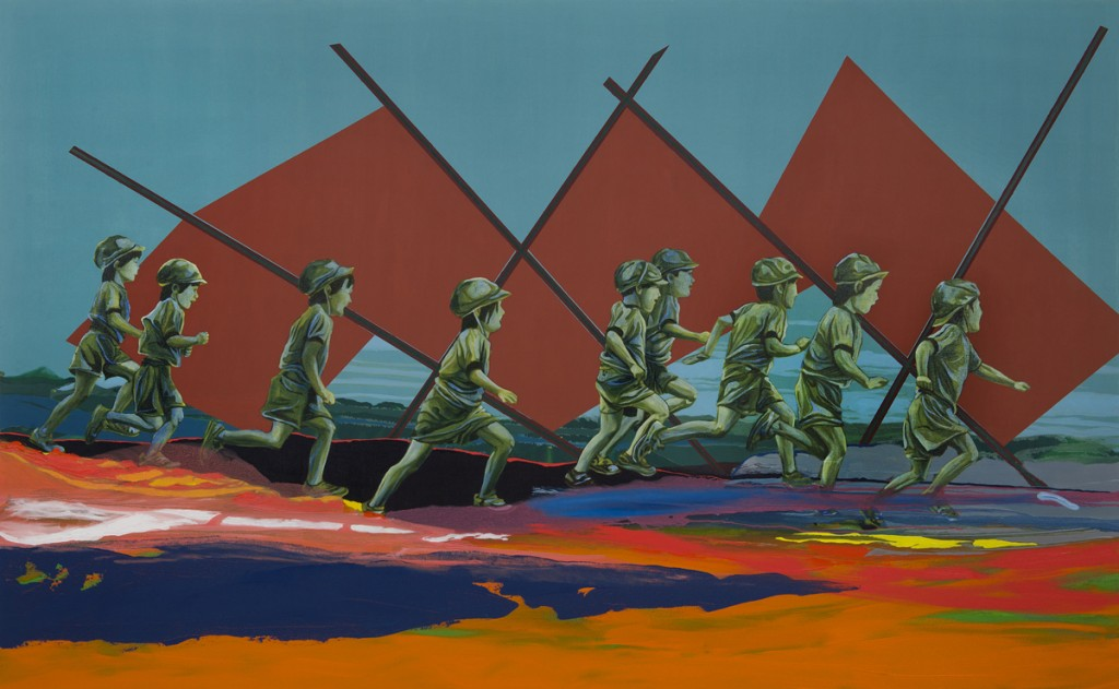 Matan Ben Tolila, The Great Run, Oil on canvas, 210x130cm, 2015