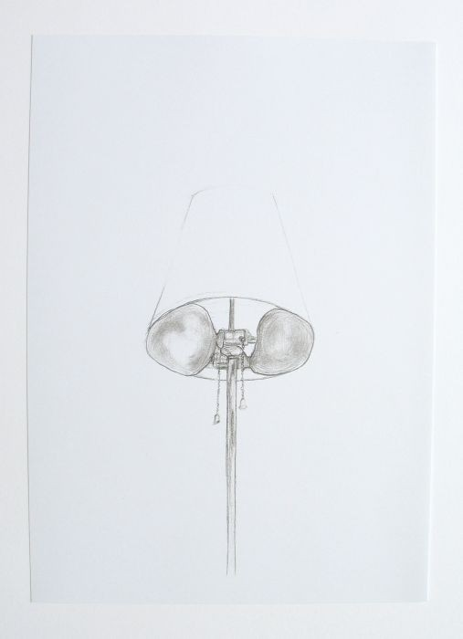 Lea Avital, Drawing for sculpture, pencil on paper, 20x30cm, 2002