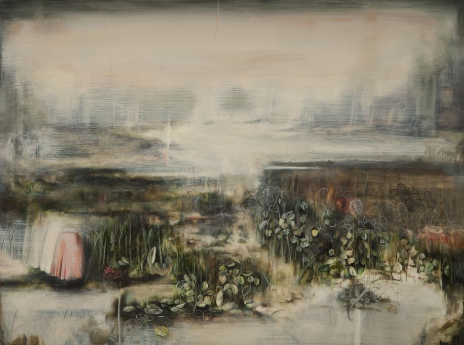 Nogah Engler, Gathering (fading Shadows), Oil on Board, 60x80cm, 2014
