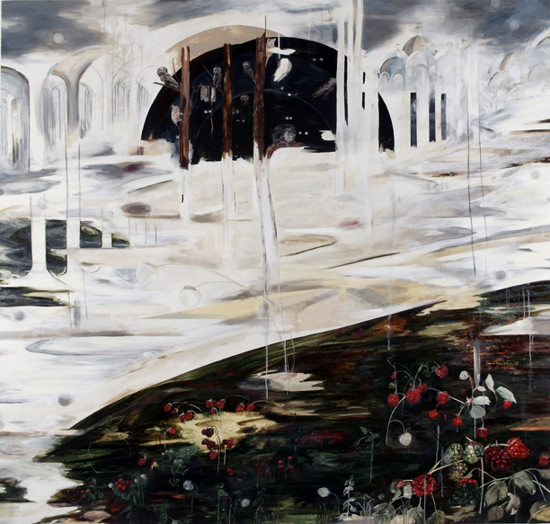 Nogah Engler, Night and day, Oil on Canvas, 190X200cm, 2007