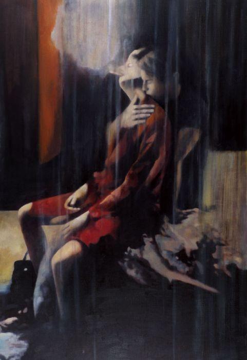 Orly Maiberg, Bedroom eyes, oil on canvas, 120x180cm, 2003