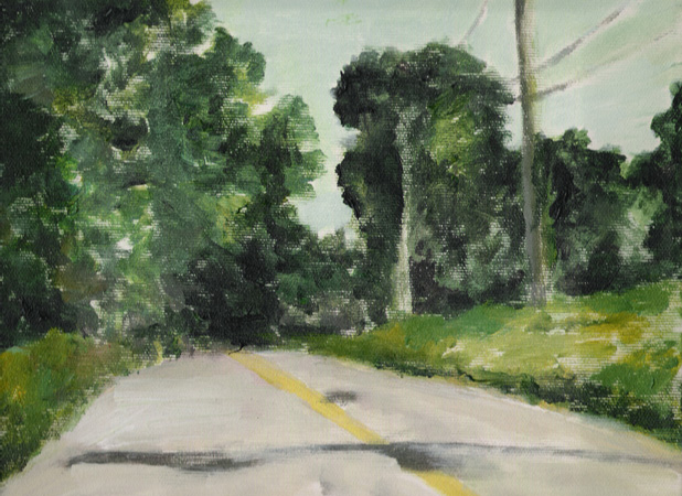 Orly Maiberg, road with yellow