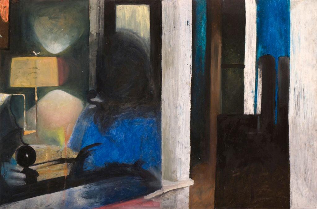 Oren Ben Moreh, New arrangement #2, oil and oil pastel on paper, 110x150, 2012