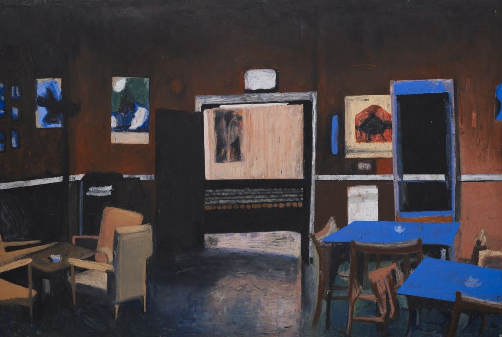 Oren Ben Moreh, Chairs and Tables Oil Pastels on Paper, 100x150cm, 2010