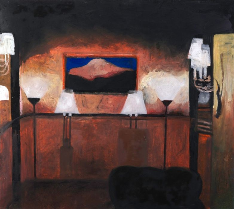 Oren Ben Moreh, Drawing Room, Pastel on Paper, 107x120cm, 2011