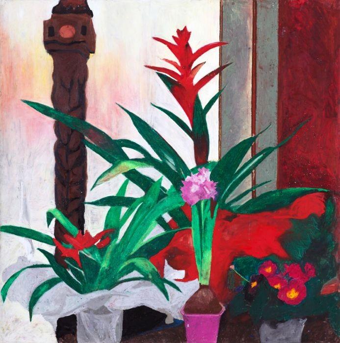 Oren Ben Moreh, Flowers, Pastel on Paper, 150x150cm,2011