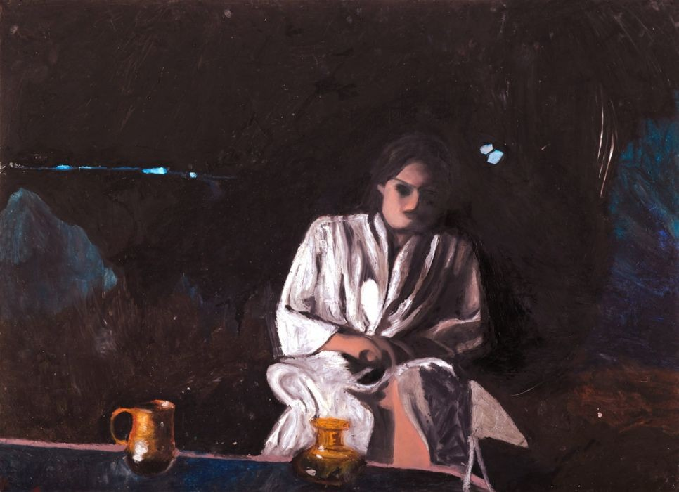 Oren Ben Moreh, In the Dark, Pastel on Paper, 109x150cm, 2011