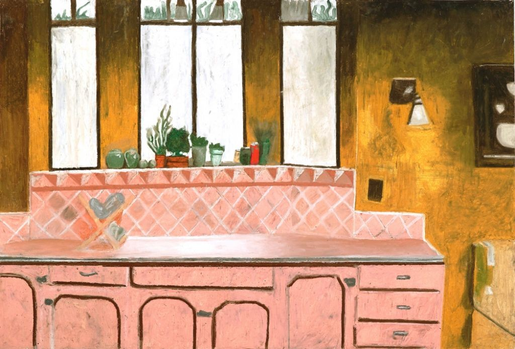 Oren Ben Moreh, Kitchenette, Pastel on Paper, 100x150cm,2011