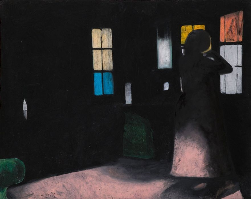 Oren Ben Moreh, Stained Glass, Pastel on Paper, 150x190, 2011