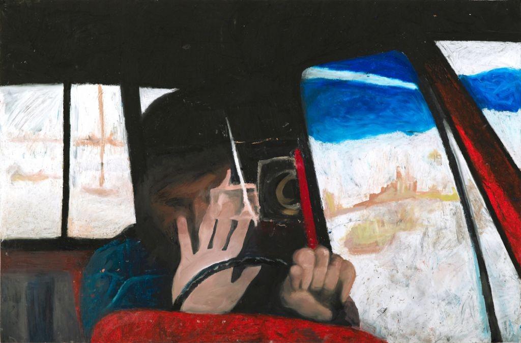 Oren Ben Moreh, Stop, Pastel on Paper, 100x150cm, 2011